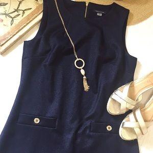 Tommy Hilfiger Navy Scuba Sheath Dress